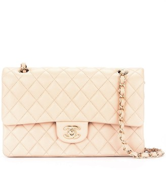 Chanel Pre-Owned 2014 Quilted CC double-flap chain shoulder bag
