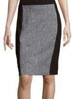 T Tahari Colorblocked Tweed Pencil Skirt