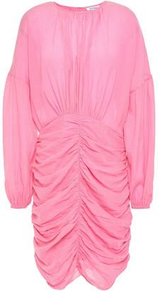 Rodebjer Adilah Ruched Crinkled Cotton-blend Gauze Dress