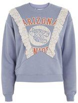 Tee & cake Arizona lace detail sweatshirt