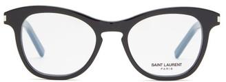 Saint Laurent Round Acetate Glasses - Black