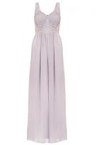 Quiz Grey Chiffon Jewel Embellished Maxi Dress