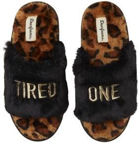 Dearfoams Women's Tired One Slide Slippers