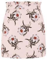 Topshop Daisy print mini skirt