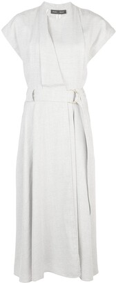 Proenza Schouler Buckled Wrap Long Dress