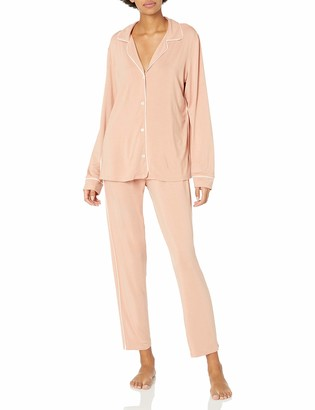 Eberjey Women's Tuxedo Slim PJ Set