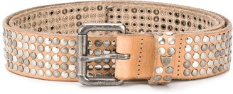 HTC All-Over Studded Buckle Belt