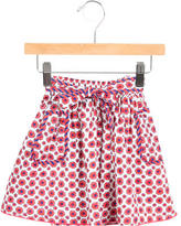 Little Marc Jacobs Girls' Floral Print A-Line Skirt