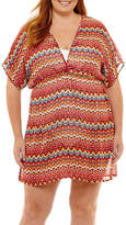 Porto Cruz Chiffon Swimsuit Cover-Up Dress-Plus
