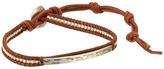 """Chan Luu 6"""" Sterling Silver Single Leather Wrap Bracelet"""