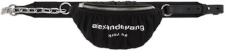 Alexander Wang Black Mini Ruched Attica Fanny Pack