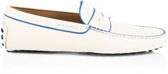 Tod's Piping Detail Leather Penny Loafers