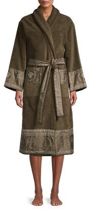 Medusa-Print Luxe Toweling Robe
