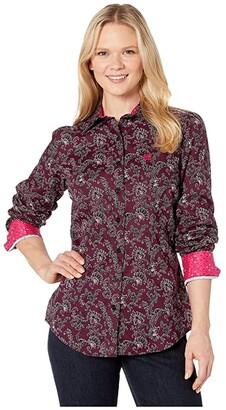 Cinch Long Sleeve Print (Multi) Women's Clothing