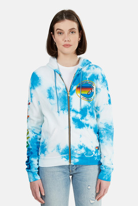Aviator Nation x Blue&Cream Zip Tie Dye Hoodie