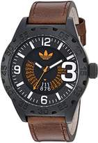 adidas Men's 'Newburgh' Quartz Rubber and Leather Casual Watch