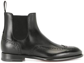 Santoni brogue-style Chelsea boots