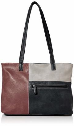 N.V. Bags Womens Katie Shoulder Bag Black (Black) 12x24x26 cm (W x H x L)