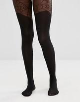 Asos Halloween Mock Over The Knee Cobweb Tights