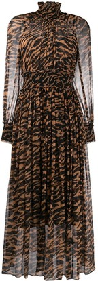 Zimmermann animal-print pleated dress