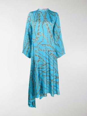 Balenciaga Chains Typo asymmetric dress