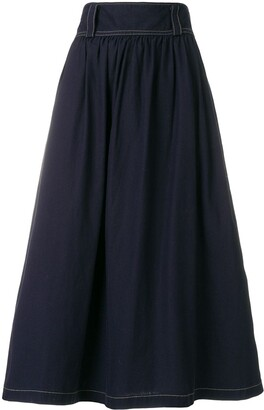 Yohji Yamamoto Pre-Owned flared midi skirt
