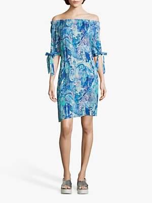 Betty Barclay Paisley Print Dress, Blue/Green