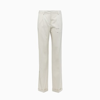 Off-White Gabardine Formal Pants Owca102s20fab004