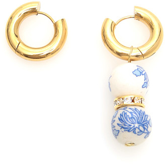Timeless Pearly SINGLE PENDANT EARRINGS OS Gold, White, Blue