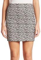 Akris Small Ai Print Cotton Mini Skirt