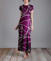 Aster Purple Swirl Maxi Dress - Plus Too