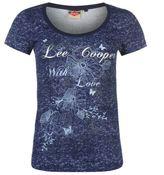 Lee Cooper Womens Textured T Shirt Casual Short Sleeve Scoop Crew Neck Tee