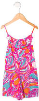 Lilly Pulitzer Girls' Wave Print Sleeveless Romper