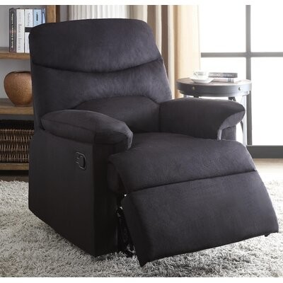 """Thumbnail for your product : Winston Porter Dracoulis 35"""" Wide Manual Standard Recliner Upholstery: Black"""
