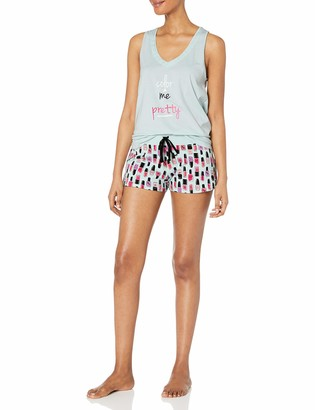 Mae Amazon Brand Women's Sleepwear Screen Print Short Pajama Set