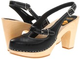Swedish Hasbeens Mary Jane Slingback (Black) - Footwear