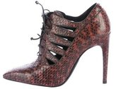 Bottega Veneta Snakeskin Lace-Up Booties