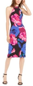 Trina Turk Trina Emotion Floral-Print Midi Dress
