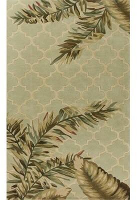 "Remington Bay Isle Home Tropical Mosaic Hand-Woven Wool Sage Area Rug Bay Isle Home Rug Size: Runner 2'6"" x 10'"