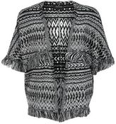 New Look Teens Black Aztec Print Tassel Cardigan