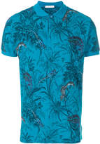 Etro tropical print polo shirt