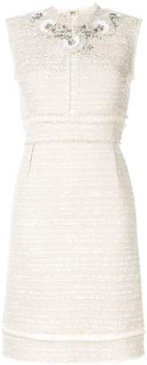 Giambattista Valli bead-embellished tweed dress