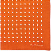 Ralph Lauren Purple Label MEN'S POLKA DOT LINEN POCKET SQUARE