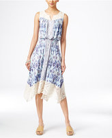 Style&Co. Style & Co. Petite Printed Handkerchief-Hem Dress, Only at Macy's