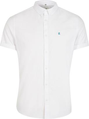 River Island Mens White slim fit Oxford shirt