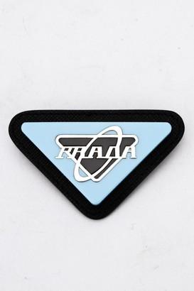 Prada Triangular Logo Brooch