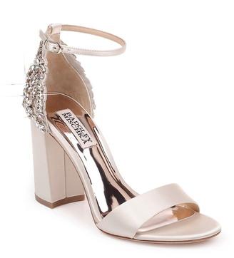 Badgley Mischka Collection Ainsley Crystal Embellished Ankle Strap Sandal