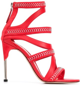 Alexander McQueen Embellished Strappy Sandals