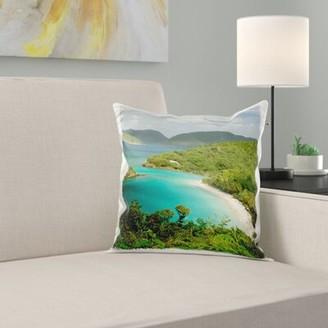 East Urban Home Usvi, St. John, Trunk Bay, Virgin Islands NP Pillow Cover