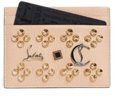 Christian Louboutin Women's Kios Simple Leather Card Case - Beige